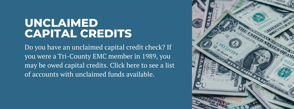 Unclaimed Capital Credits 2020