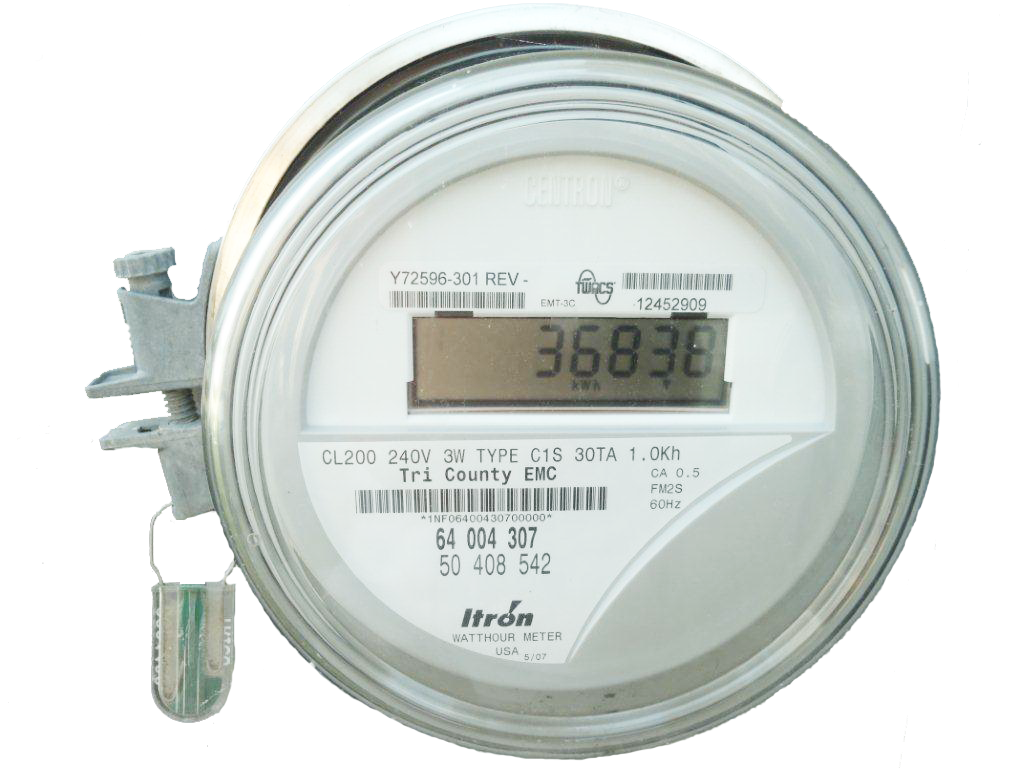 Secondary Electric Meter : Your meter energy tri county emc
